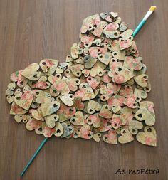 Handcrafted flowers wooden hearts for Valentine's Day with decoupage technique 💚 Ξύλινες χειροποίητες καρδιές με decoupage Decoupage, Handmade Wooden, Diy, Inspiration, Vintage, Biblical Inspiration, Bricolage, Diys, Vintage Comics