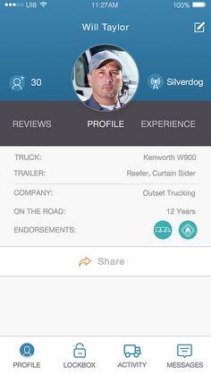 Image result for driver profile app