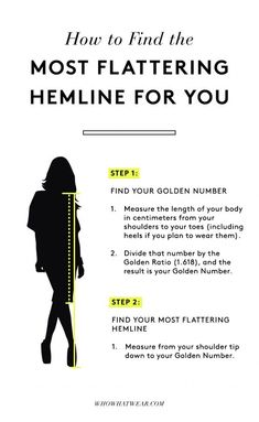 Style tips How to Make Your Legs Look Slim Every Time Your most flattering hemline : hemline golden ratio New Outfits, Fashion Outfits, Womens Fashion, Fashion Trends, Fashion Ideas, Fashion Clothes, Latest Fashion, Fashion Hacks, Stylish Clothes