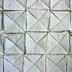 Origami Textiles sample with folded tile pattern; fabric manipulation; sewing // Jo Deeley