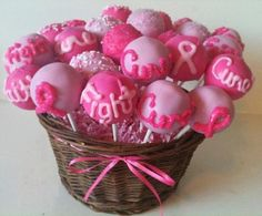 Cake pops for a cure! By Kim's Sweet Karma. https://www.facebook.com/Kimssweetkarma