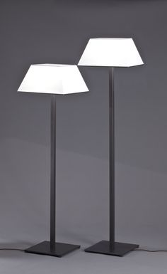 Manaar floor lamps burnished