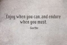 Enjoy when you can, and endure when you must. quote