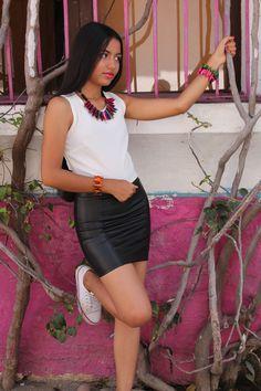 Sesion BijouMichel Leather Skirt, Mini Skirts, Beautiful, Fashion, Urban, Fotografia, Moda, Leather Skirts, Fashion Styles