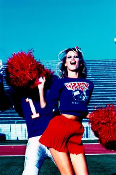 claudia schiffer by ellen von unwerth / new york giants / cheerleader / football / nfl