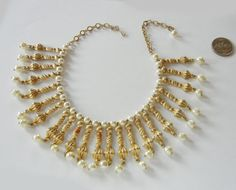 Vintage Cleopatra Pearl BIB Necklace from by RockArtemisVintage, $45.00