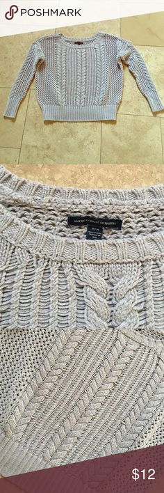 American Eagle Cable Knit Sweater Excellent condition. Near new. Size medium American Eagle Outfitters Sweaters Crew & Scoop Necks
