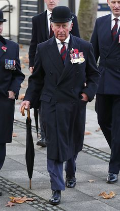 Prince Charles, Prince of Wales arrives at the Guards' Chapel in Wellington Barracks to lay a wreath at the Guards' Memorial for the Welsh Guards' Regimental Remembrance Sunday on November 13, 2016 in London, England.
