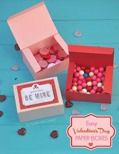 DIY Valentine Paper Boxes by Laura Russell from MakeLifeLovely.com featuring Sizzix.