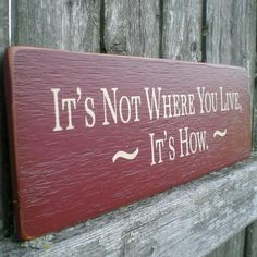 Primitive Wood Sign It's Not Where You by scaredycatprimitives, $8.00