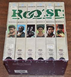 ROOTS 1977 TV Miniseries  (2001 6-VHS TAPE BOX SET) Former Library Copy