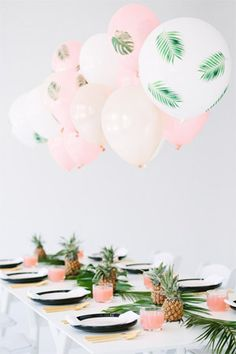 banana leaf   pineapple tropical inspired bridal shower styling - brides of adelaide