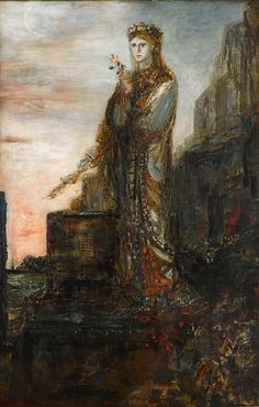 Helen on the Trojan Ramparts, Gustave Moreau. French Symbolist Painter (1826 - 1898)