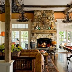 Spaces Stone Fireplace Design, Pictures, Remodel, Decor and Ideas - page 4