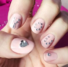 """Pure Ice """"Tickle Me Pink"""" with crystals from NailRocKits"""