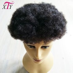 Chinese supplier 100% virgin indian human hair piece kinky curly men's toupee for black men with afro curly