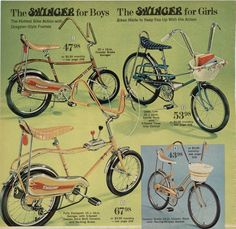 Banana seats, Ihad one in purple swinger bicycles 1970