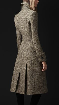 Wool Silk Tweed Greatcoat | Burberry circle silhouette