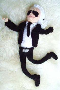 Karl Lagerfeld knitted sock monkey