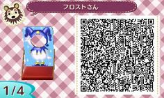 Jester Face board Cut Out Standee Animal Crossing QR Code