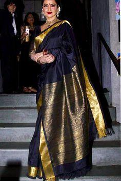 Soft silk sarees - buy the latest collection of soft silk sarees. check new and trendy wears for women. Mysore soft silk sarees and Kanjivaram soft silk sarees. Kanjivaram Sarees Silk, Banarsi Saree, Soft Silk Sarees, Lehenga, Kanchipuram Saree, Rekha Saree, Sabyasachi, Modern Saree, Latest Designer Sarees