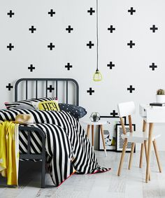 ZN set kid's bedroom PVC wall stickers cross plus wall decal for baby room wall decoration Room Interior, Interior Design Living Room, Adairs Kids, Home And Deco, My New Room, Kids House, Boy Room, Child's Room, Girls Bedroom
