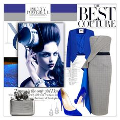 """toute bleu"" by anilia ❤ liked on Polyvore featuring Milly, Roksanda, Jimmy Choo, Nancy Gonzalez, Plukka and Vanity Fair"