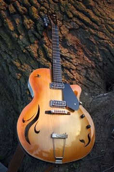 "Custom Archtop ""Gypsy Rose"" Grestch www. Unique Guitars, Custom Guitars, Vintage Guitars, Jazz Guitar, Cool Guitar, Acoustic Guitar, Guitar Tabs, Gretsch, Banjo"