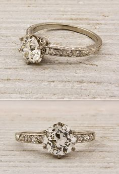Really pretty if it had a second plain wedding band for the wedding ring and that as engagement ring