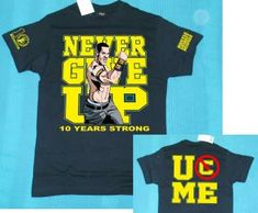 Find great deals on for john cena wristbands and john cena hat in Wrestling. John Cena Costume, Wwe Shirts, Kids Rooms, Never Give Up, 10 Years, Wrestling, Strong, Cap, Graphics
