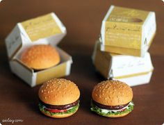 Miniature burgers, with burger boxes. | Flickr - Photo Sharing!