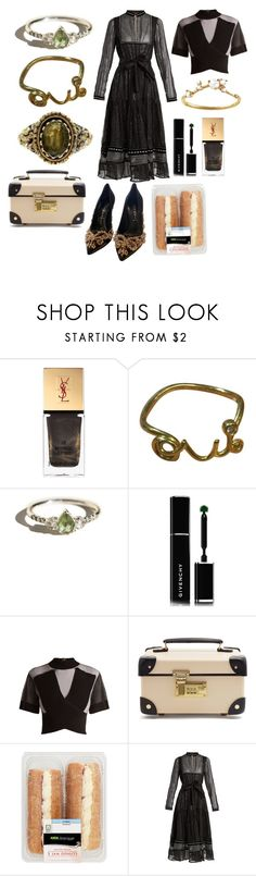 """""""I am a museum full of art - but you had your eyes shut"""" by mymind-is-a-warrior ❤ liked on Polyvore featuring Yves Saint Laurent, Oui, Givenchy, Balmain, Globe-Trotter, Dodo Bar Or and WWAKE"""