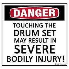 Danger Drum Set Poster                                                                                                                                                                                 More