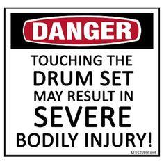 Danger Drum Set Poster                                                                                                                                                                                 More
