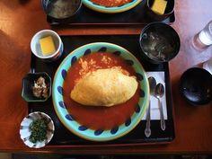 山水亭/Sansui Tei, Aso, Kumamoto, Japan, オムライス. Image via http://plaza.rakuten.co.jp/toshi240/diary/