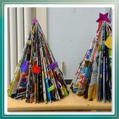Kerstboom van tijdschriften