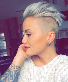 "2,099 Likes, 13 Comments - @shorthair_love on Instagram: ""@mrsnenales #hairstyle #hair #haircut #shorthair #shorthairlove #undercut #blondehair #pixiecut"""