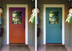 color door on tan siding | Monday, August 1, 2011