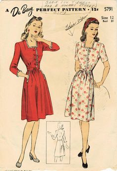 The Midvale Cottage Post: Scraps from the Past: Sunny Summer Wartime Frock