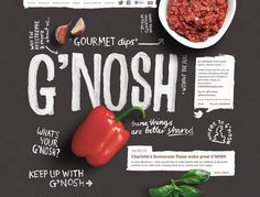 G'nosh #layout #typography #restaurant