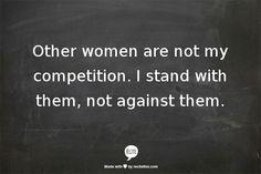 Ladies stick together!