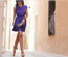 Pref Round: Shades of Violet?  (Pair with: nude or gold heels; gold/jade accessories)