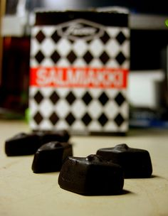 Salmiakki - The salty licorice treats are a favorite to most Finns. #Finland #Candy