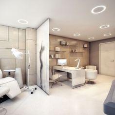 Mesmerizing Futuristic Surgery Clinic Interiors Design:  Surgery Clinic  Photo 07: Contemporary Medical Office Interior