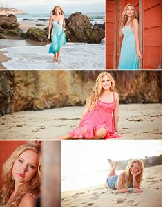 Seniors pictures on the beach