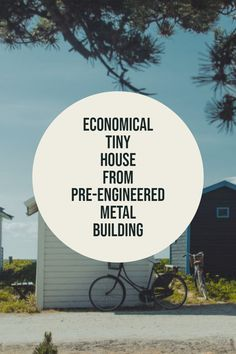Economical Tiny Home - Pre-engineered Metal Building Prefab Metal Buildings, Pre Engineered Metal Buildings, Metal Carports, Metal Garages, Storage Sheds, Built In Storage, Handyman Projects, Steel Barns, Carport Designs
