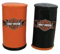 Harley Davidson Motorcycle salt pepper shaker
