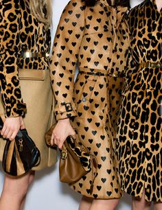 #leopard #hearts #Burberry Fall Fashion #chic #fashion #style #luxe Collectioneight.com/blog/
