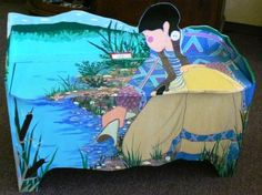virginia stroud | Original Hand crafted & Painted by Virginia Stroud. Inside of bench is ...