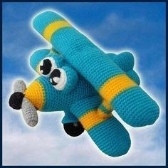 Amigurumi Crochet Pattern  Ace The Airplane door DeliciousCrochet, $5.20